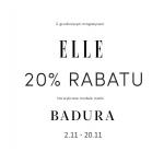 Badura: 20% zniżki na wybrane modele z magazynem Elle