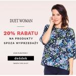Balladine: 20% zniżki na produkty spoza wyprzedaży marki Duet Woman