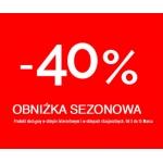 Bershka: 40% obniżka sezonowa