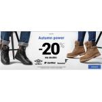 ButySportowe.pl: Autumn Power 20% zniżki na ubrania i buty sportowe marek Umbro, Lotto, Feewear