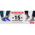ButySportowe.pl: dodatkowe 15% zniżki do 70% wyprzedaży