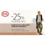 C&A: 25% zniżki na jedną rzecz