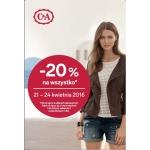 C&A: 20% zniżki na wszystko
