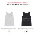 Camaïeu: 50% rabatu na wszystkie t-shirty dla dzieci z okazji Dnia Dziecka