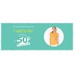 Camaieu: 50% zniżki na drugą rzecz z t-shirtów i topów