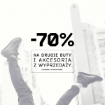 Cropp: 70% zniżki na drugie buty i akcesoria z wyprzedaży