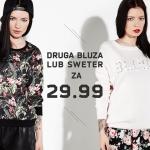 Cropp: druga bluza lub sweter za 29,99 zł