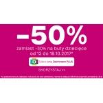 Deichmann: 50% zamiast 30% rabatu na przecenione buty dziecięce
