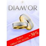 Diamor: 30% zniżki na złote obrączki