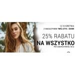 Diverse: Stylowe Zakupy 25% rabatu na odzież damską i męską