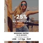 Diverse: Weekend Zniżek 25% zniżki na odzież damską i męską