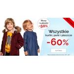 Endo: wyprzedaż 60% rabatu na wszystkie kurtki, parki i płaszcze dziecięce