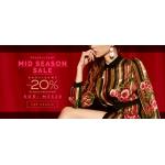 Eye for fashion: wyprzedaż międzysezonowa dodatkowe 20% zniżki na modną odzież damską