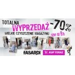 Fasardi: totalna wyprzedaż, zniżki do 70%