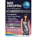 Noc Zakupów w Focus Mall Bydgoszcz 21 listopada 2014