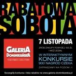 Rabatowa Sobota we wrocławskiej galerii Dominikańskiej 7 listopada 2015