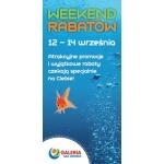 Weekend Rabatów w galerii na Jeziorem w Koninie 12-14 września 2014