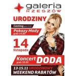 Urodzinowy weekend rabatów w galerii Rzeszów 14 listopada 2015