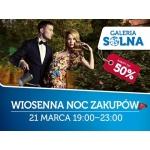 Wiosenna Noc Zakupów w galerii Solnej w Inowrocławiu 21 marca 2015