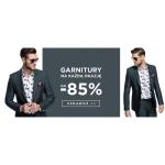 Giacomo Conti: wyprzedaż do 85% zniżki na garnitury męskie
