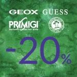 Gino Rossi: 20% zniżki na obuwie marek Geox, Guess, Primigi, Panama Jack