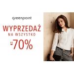 Greenpoint: wyprzedaż na wszystko do 70%