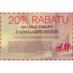 20% kupon rabatowy na kolekcję dziecięcą w H&M