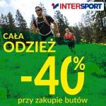 Intersport: 40% zniżki na odzież przy zakupie butów