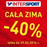 Intersport: 40% zniżki na artykuły zimowe