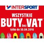 Intersport: wszystkie buty bez VAT