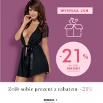 Intymna: 21% zniżki na wybraną bieliznę damską