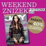 Weekend Zniżek z Joy w całej Polsce 9-10 stycznia 2016