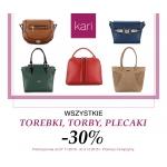Kari: 30% zniżki na wszystkie torebki, plecaki oraz portfele