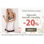 Kontri: promocja na Dzień Kobiet 20% rabatu na eleganckie koszulki i komplety bielizny