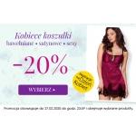 Kontri: 20% rabatu na kobiece koszulki bawełniane, satynowe, sexy