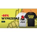 Koszulkowo: wyprzedaż 60% zniżki na wybrane modele koszulek