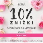 LaModa.pl: extra 10% zniżki na wszystko na LaModa.pl