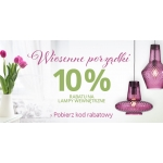 Lampy: 10% zniżki na lampy wewnętrzne