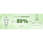 Lampy: wyprzedaż do 80% rabatu na lampy, oświetlenie i LED