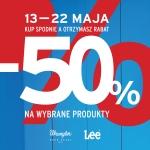 Lee Wrangler: 50% zniżki na wybrany produkt przy zakupie spodni