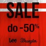 Lee Wrangler: wyprzedaż do 50% zniżki