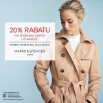 Marks & Spencer: 20% zniżki na wybrane kurtki i płaszcze