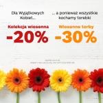Monnari: 20% zniżki na kolekcję wiosenną, 30% zniżki na torby
