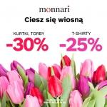 Monnari: 30% zniżki na kurtki i torby oraz 25% na t-shirty