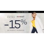 Monnari: 15% rabatu na kurtki i płaszcze damskie z kolekcji Małgosia Socha