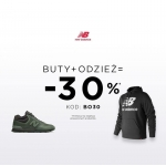 New Balance: 30% rabatu przy zakupie obuwia oraz minimum jednej sztuki odzieży
