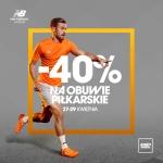 New Balance: 40% zniżki na obuwie piłkarskie