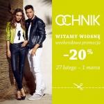 Ochnik: weekendowa promocja 20%