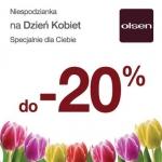 Olsen: 20% rabat na Dzień Kobiet