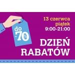 13 czerwiec 2014 Dniem Rabatów w centrum Osowa w Gdańsku